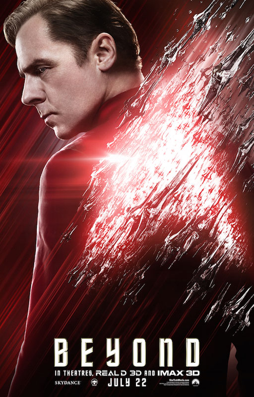 STAR TREK BEYOND poster with Simon Pegg as Scotty