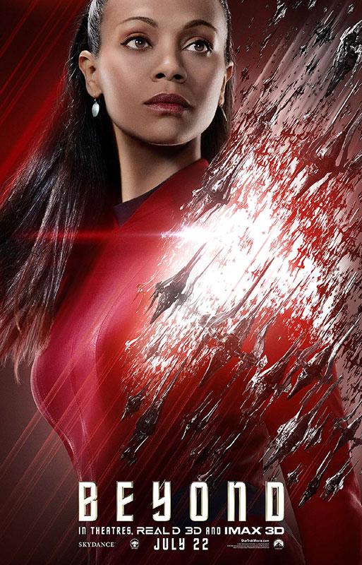 STAR TREK BEYOND poster with Zoe Saldana as Uhura