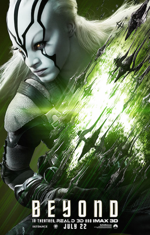 STAR TREK BEYOND poster with Sofia Boutella as Jaylah