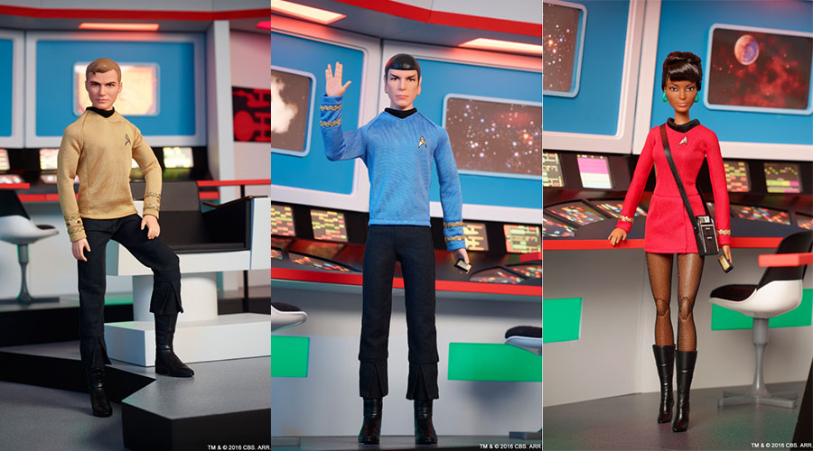 50th Anniversary Star Trek Barbie Collection