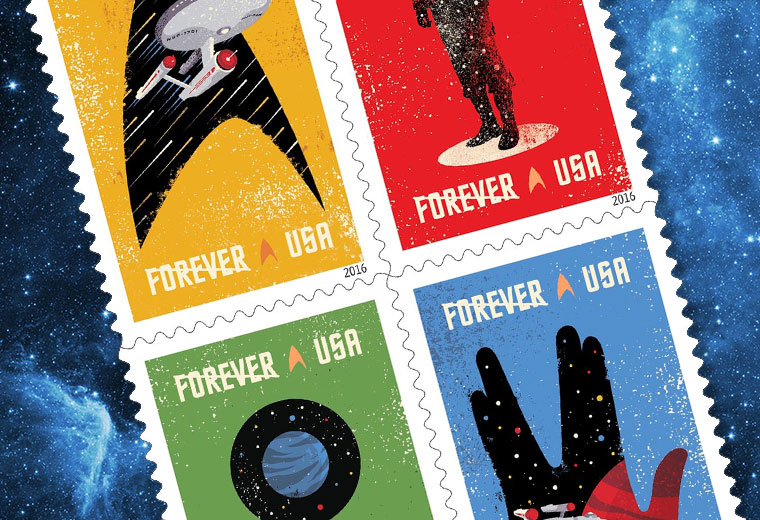 STAR TREK Forever Stamps Launching In The US On Sept. 2