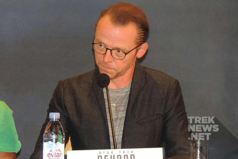 Simon Pegg at the Star Trek beyond press junket  (photo: Laura  Sirikul for TrekNews.net)