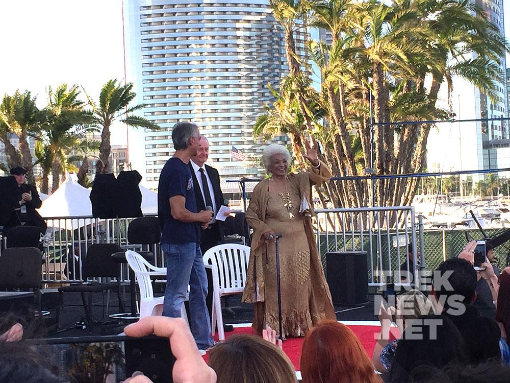 Nichelle Nichols at the STAR TREK BEYOND premiere in San Diego