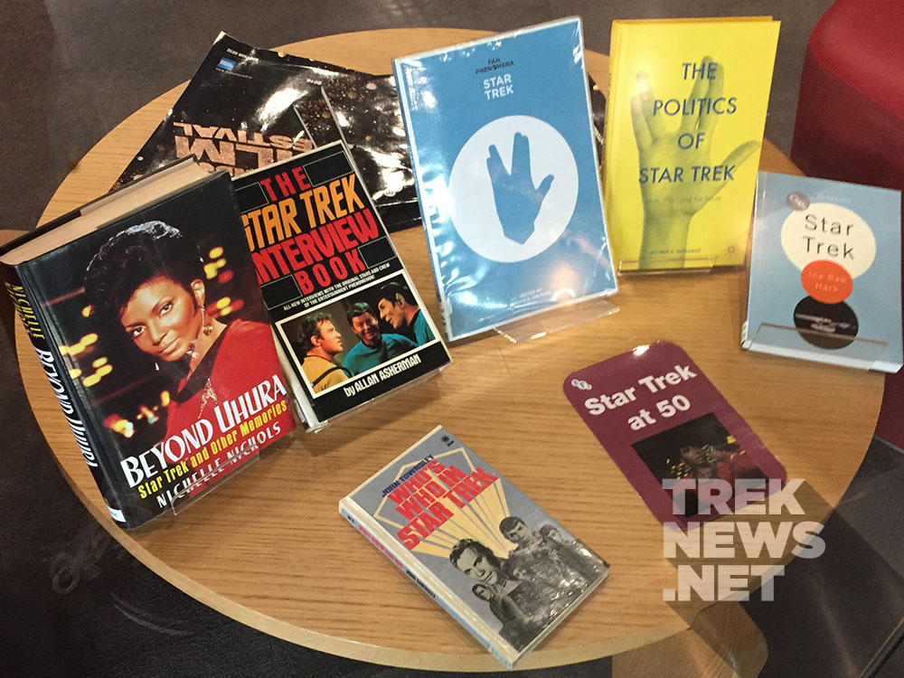 Star Trek books on display