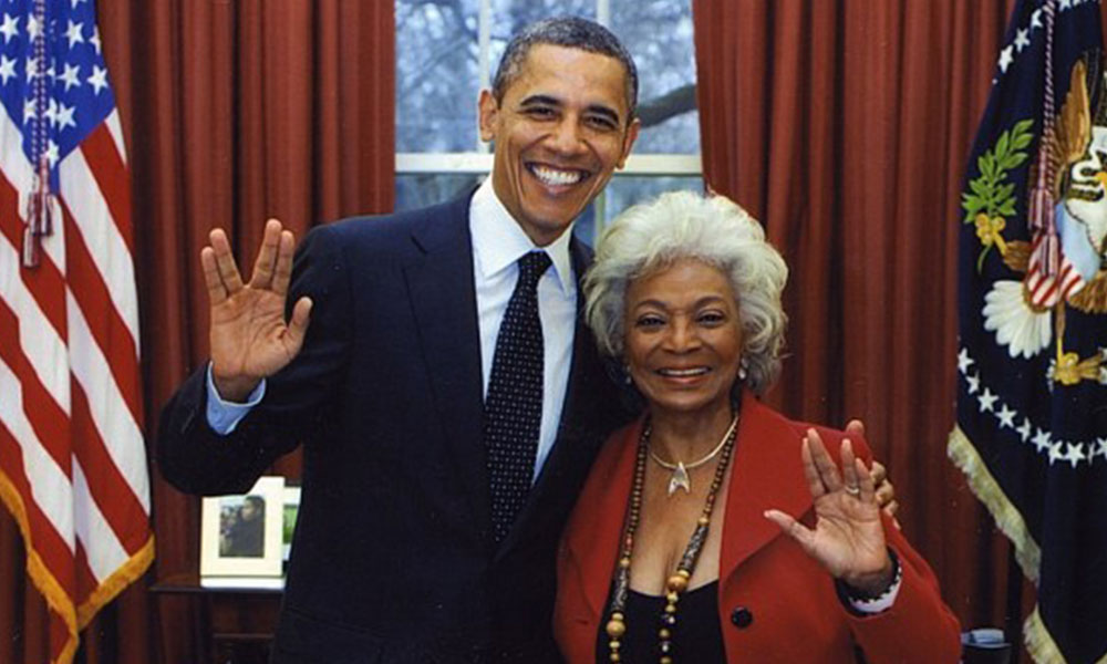 Obama with Star Trek's Nichelle Nichols at the White House in 2012