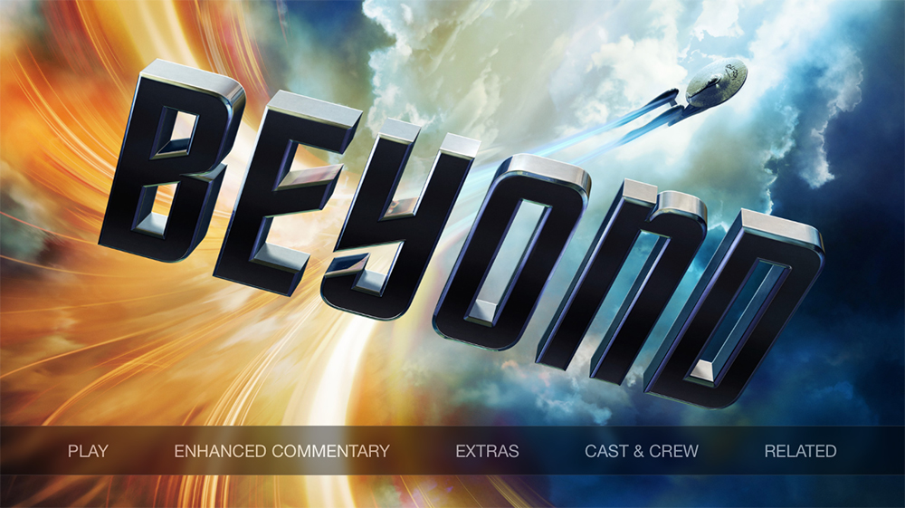 Star Trek Beyond iTunes menu