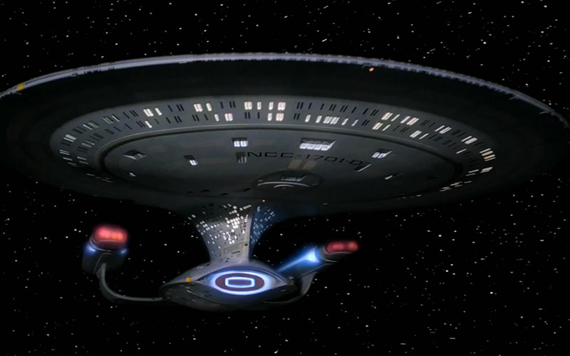 The Enterprise D, as seen on Star Trek: The Next Generation (photo: CBS Home Entertainment)