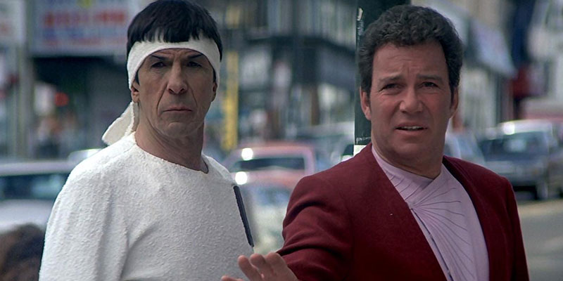 Spock and Kirk in San Francisco