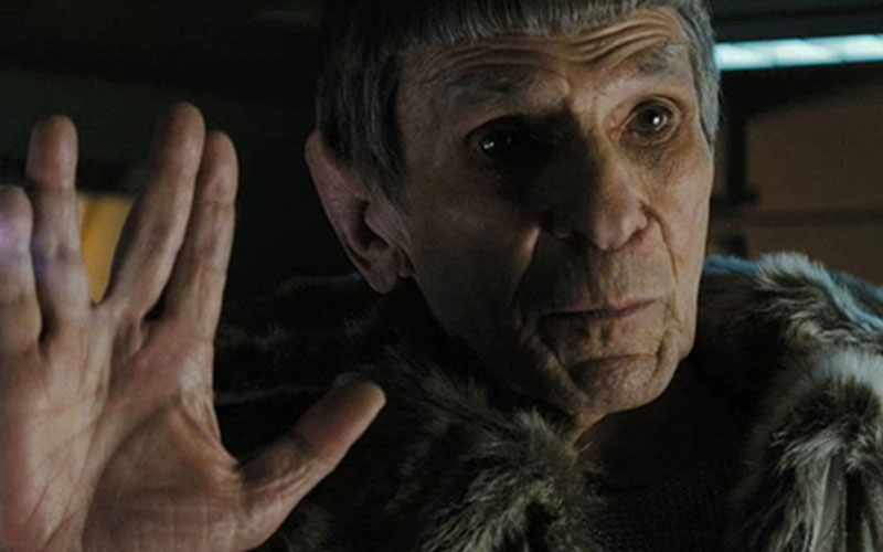 Nimoy as Spock in 2009's Star Trek (photo: Paramount Pictures)