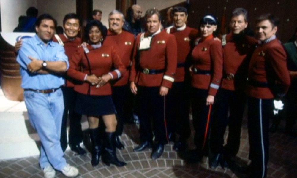 Director Nicholas Meyer and the cast of Star Trek VI