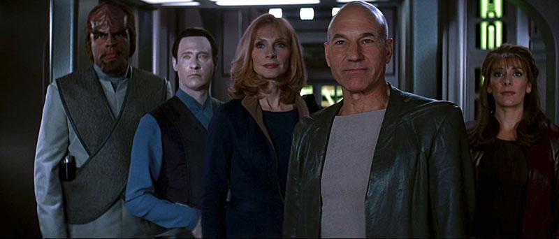 The Enterprise-E crew