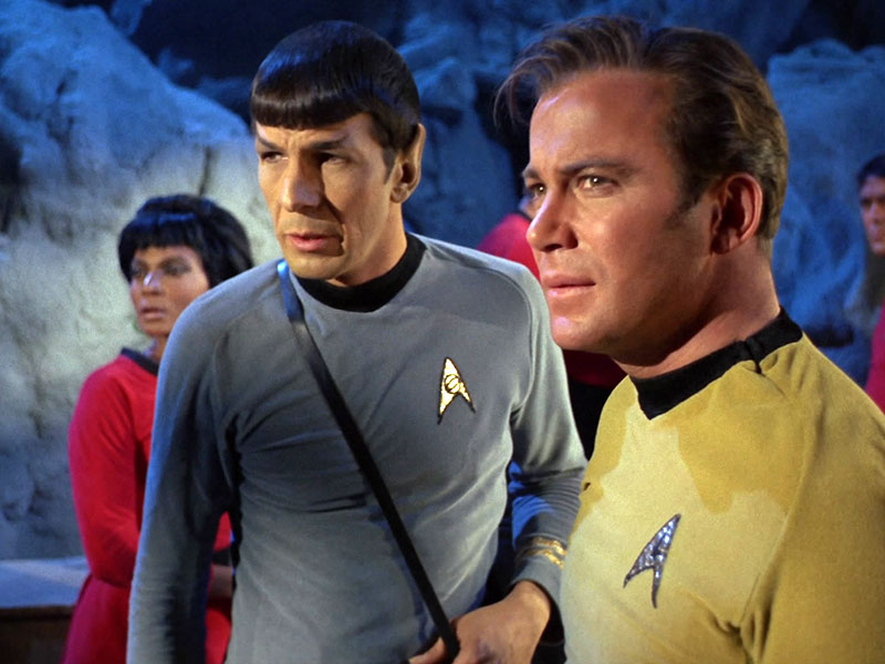Kirk, Spock and the Enterprise crew