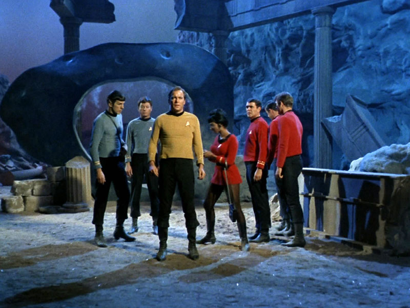 Kirk and the crew of the Enterprise