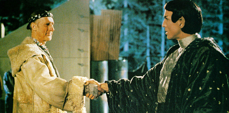 """First Contact"" between humans and Vulcans, as shown in Star Trek: First Contact"