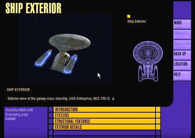 Enterprise NCC-1701-D, from the Star Trek TNG Interactive Technical Manual
