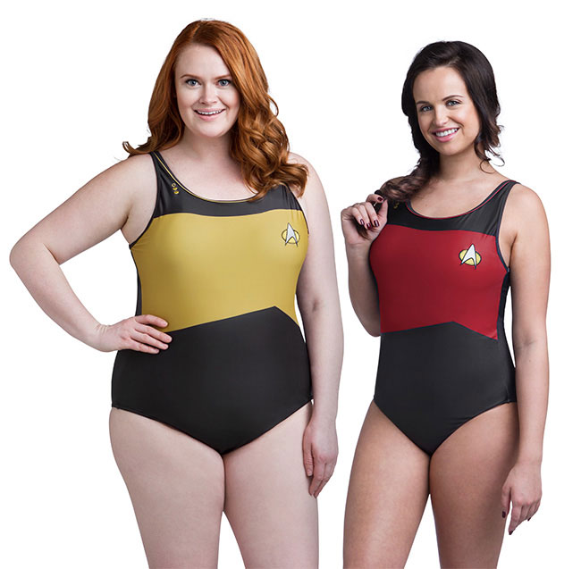 Star Trek TNG swimsuits from ThinkGeek