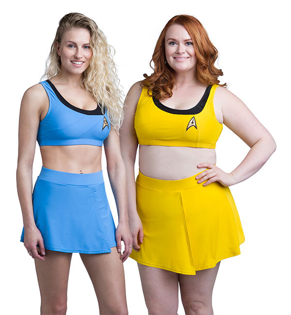 Star Trek TOS bikinis from ThinkGeek