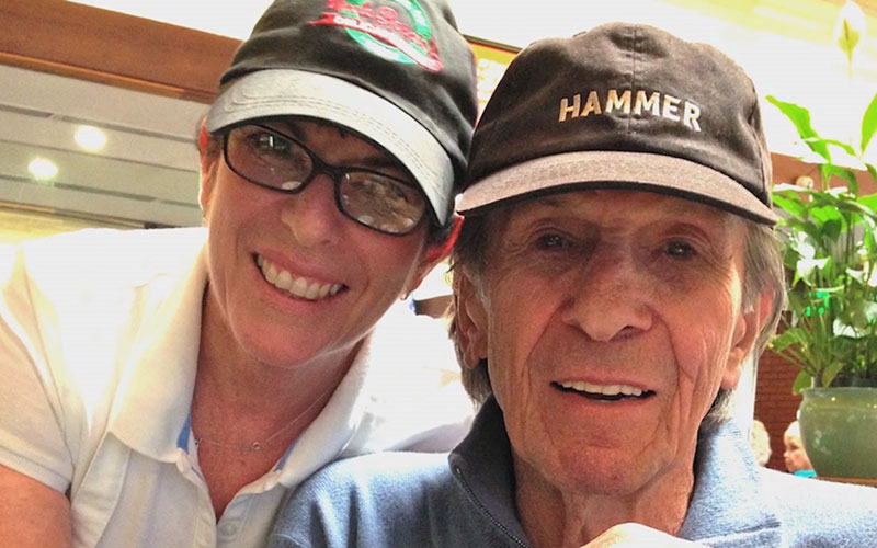 Julie with her father Leonard Nimoy