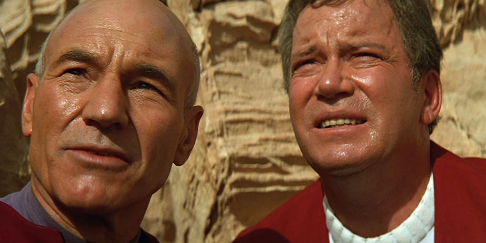 Shatner with Patrick Stewart in