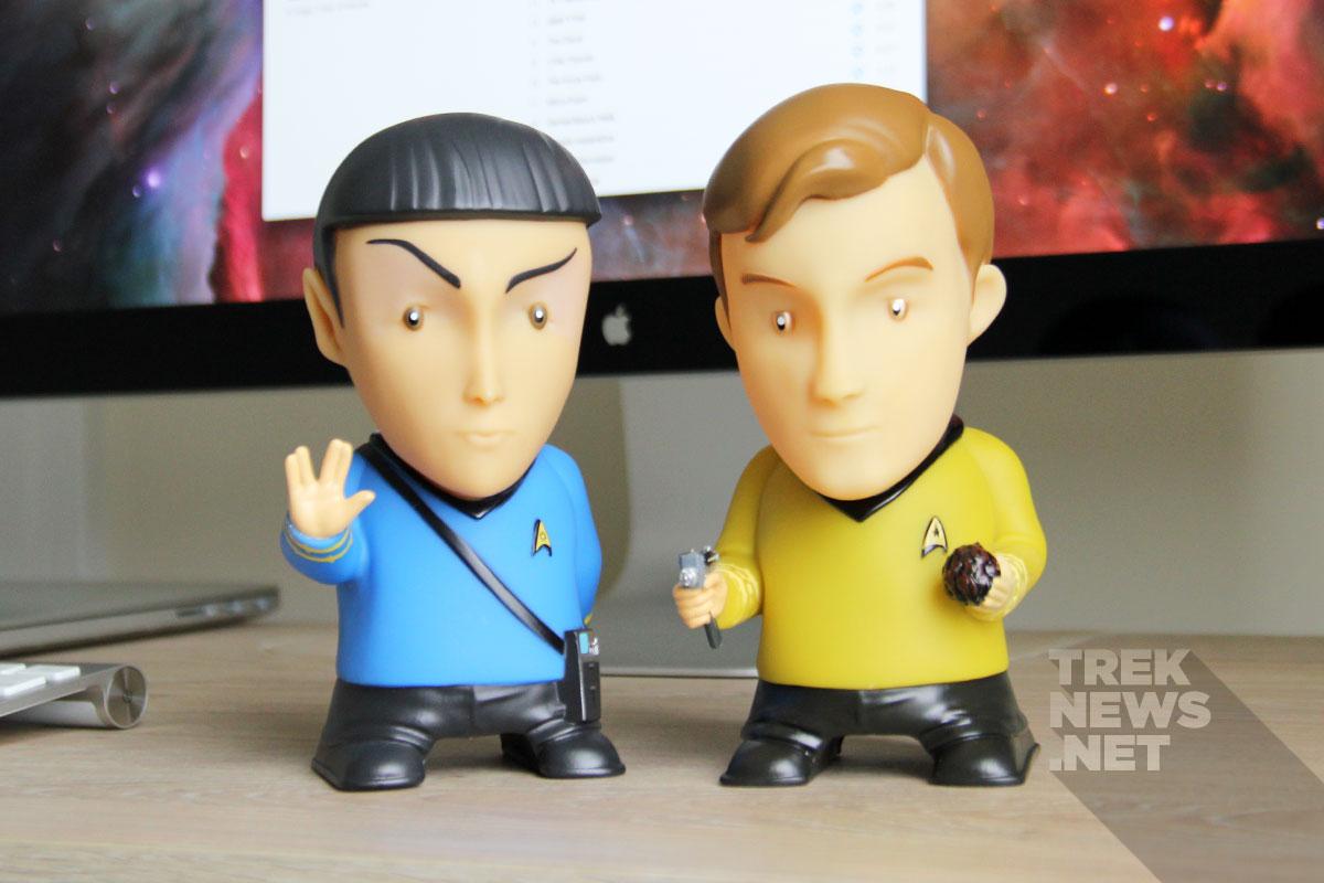 Spock and Kirk Bluetooth speakers from FameTek