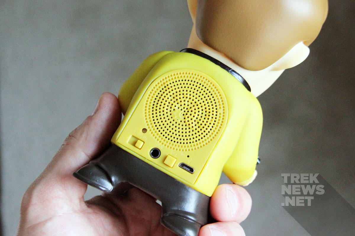 Back side of the Kirk Bluetooth speaker