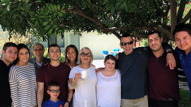Nimoy and his family in 2014