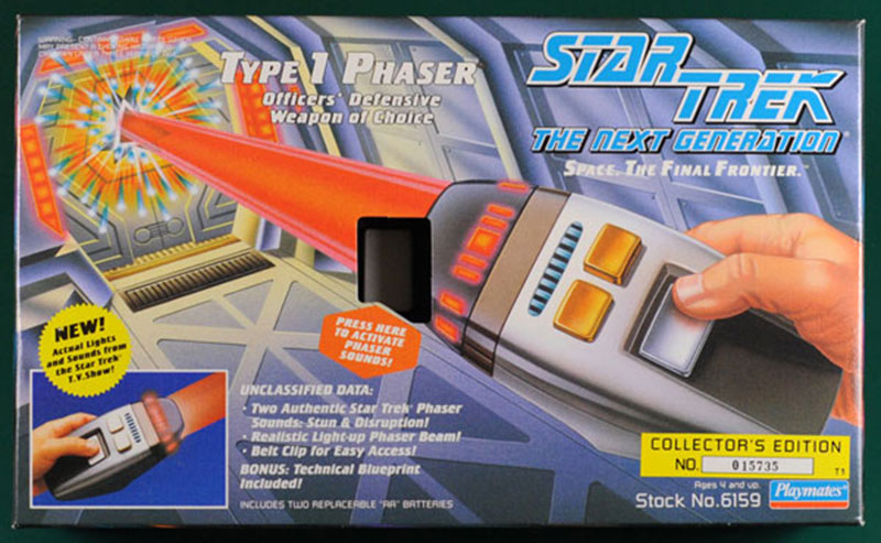 Playmates' toy TNG Type 1 phaser