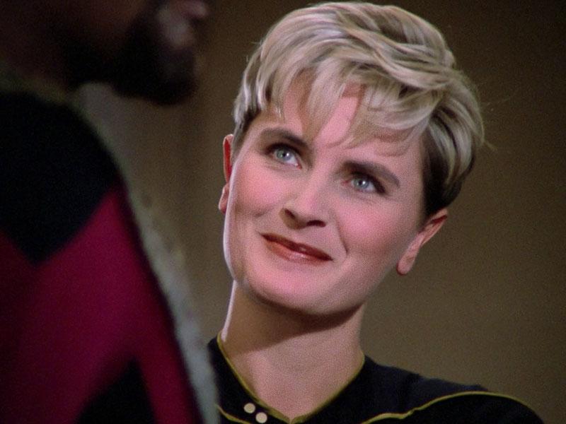 Denise Crosby as Tasha Yar on Star Trek: The Next Generation