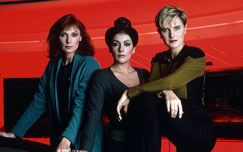 Gates McFadden, Marina Sirtis and Denise Crosby looking fierce