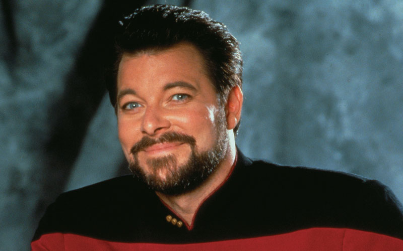Jonathan Frakes as Commander Will Riker on Star Trek: The Next Generation