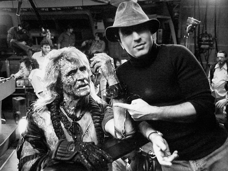 "Meyer with Montalbán on the set of ""Wrath of Khan"""