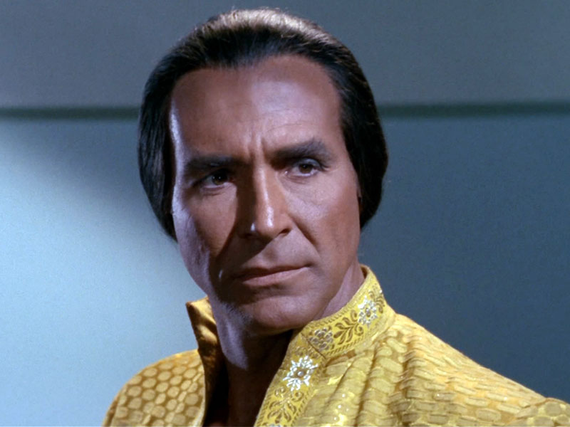 "Montalbán as Khan in the Original Series episode ""Space Seed"""
