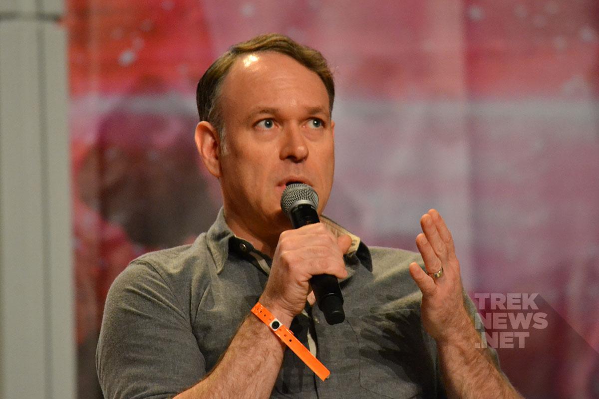 Star Trek: Discovery writer Ted Sullivan on stage in Las Vegas