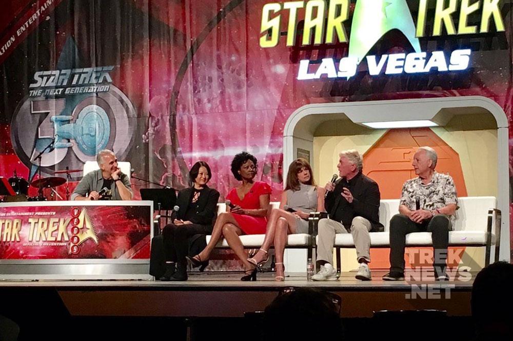 Star Trek: TNG and DS9 guest stars: Deborah Lacey, Julia Nickson, Daniel Davis, Bob Gunton, Deirdre Imershei