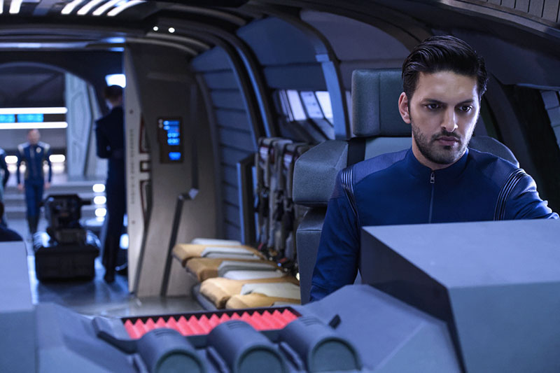 Shazad Latif as Lieutenant Ash Tyler on Star Trek: Discovery