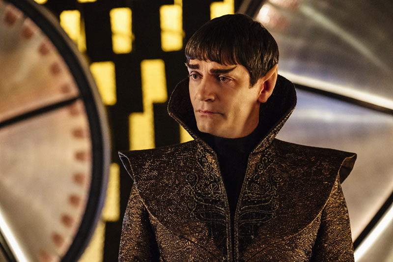 "James Frain as Sarek in the Star Trek: Discovery premiere ""The Vulcan Hello"""