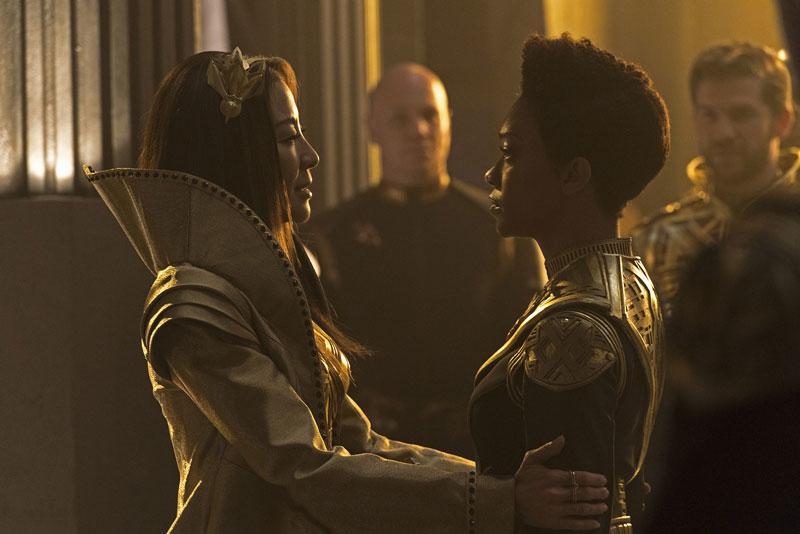 Michelle Yeoh as Phillipa Georgiou and Sonequa Martin-Green as Michael Burnham