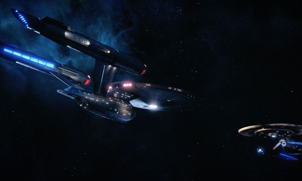 The USS Discovery meets the USS Enterprise