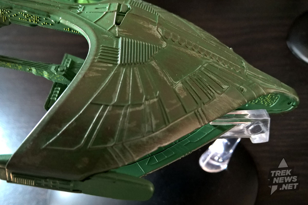 Romulan Warbird. Note the hull scarring.