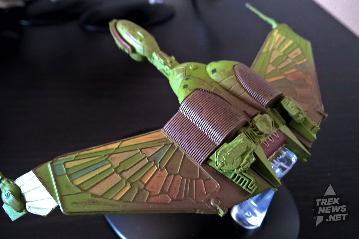 Klingon Bird of Prey. Unfortunately, the wings do not angle down.