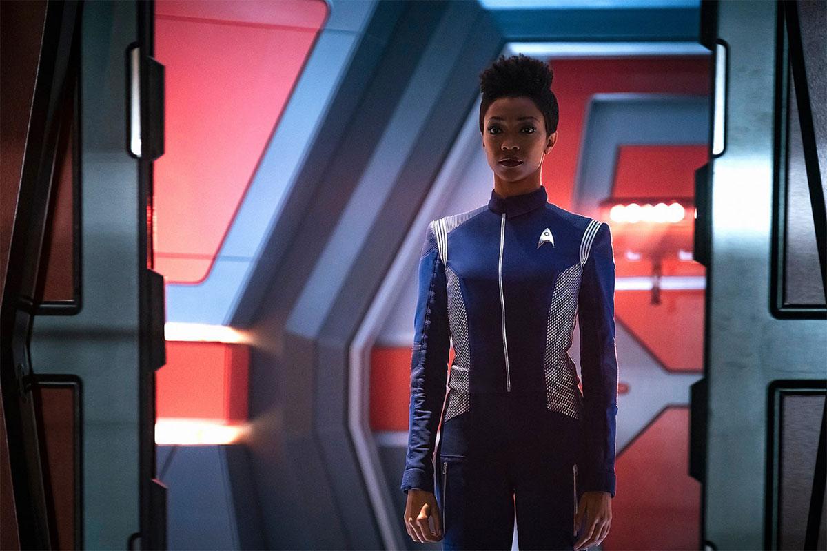 Sonequa Martin-Green as Michael Burnham aboard the Enterprise