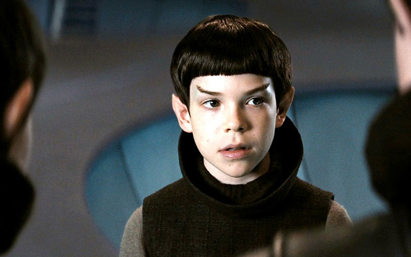 Jacob Kogan as young Spock in 2009's Star Trek