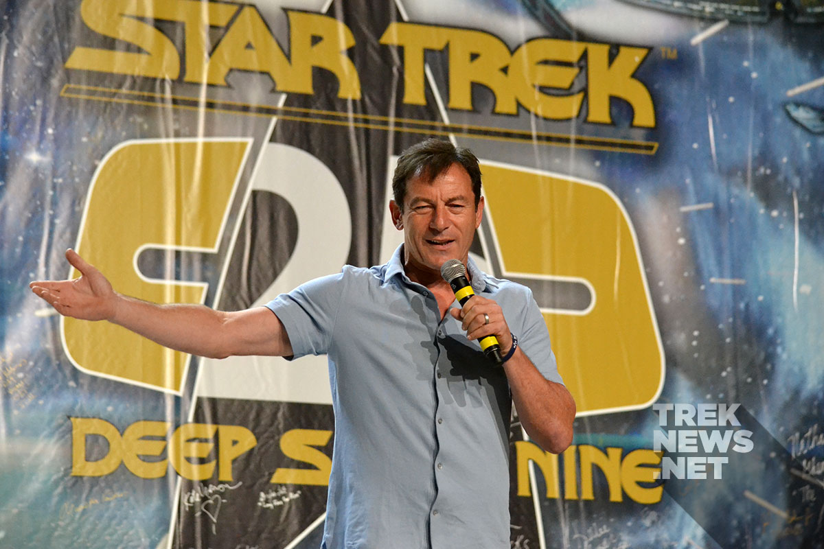 Jason Isaacs on stage at Star Trek Lass Vegas