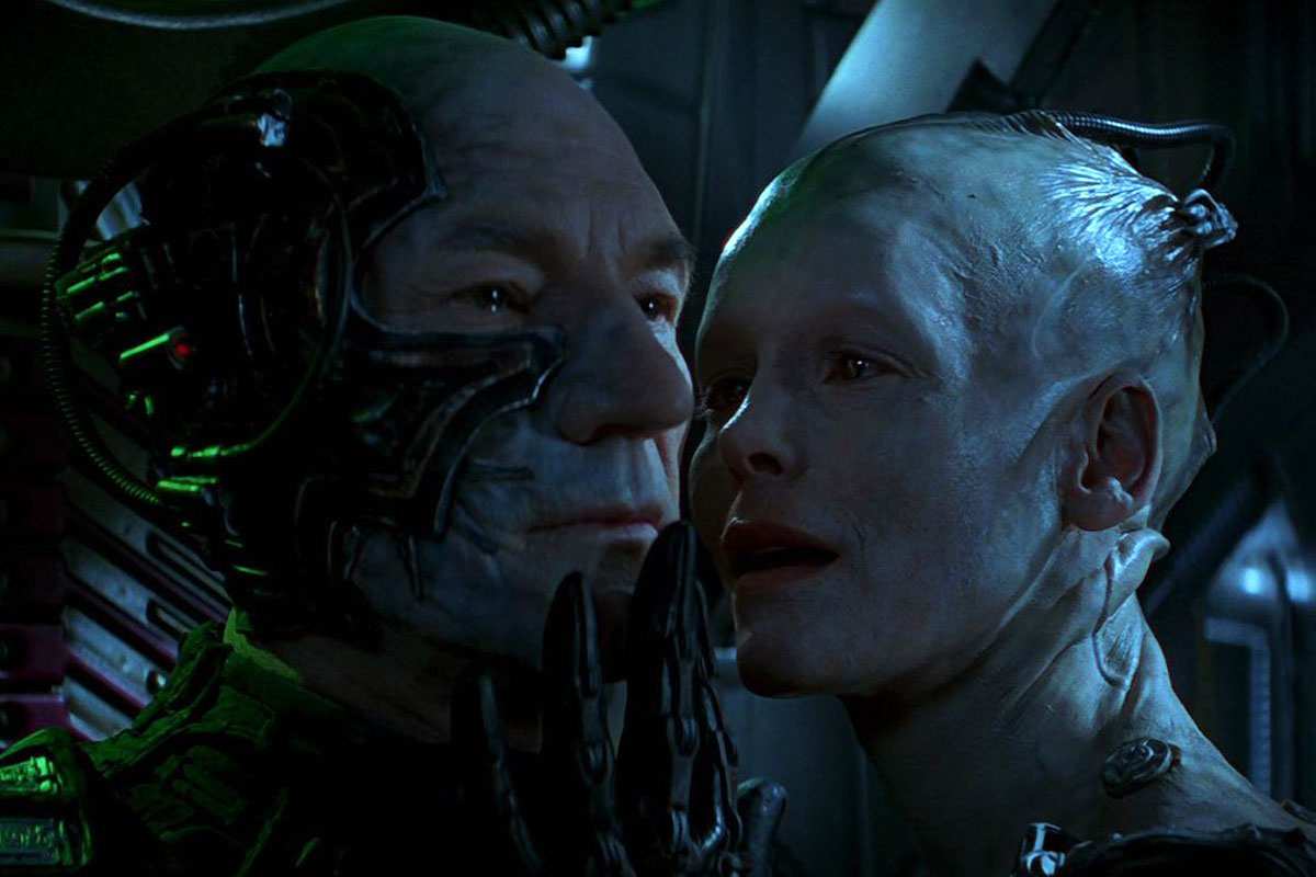 Locutus and the Borg Queen