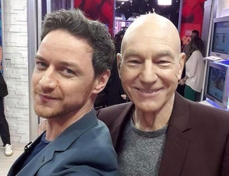 James McAvoy and Patrick Stewart