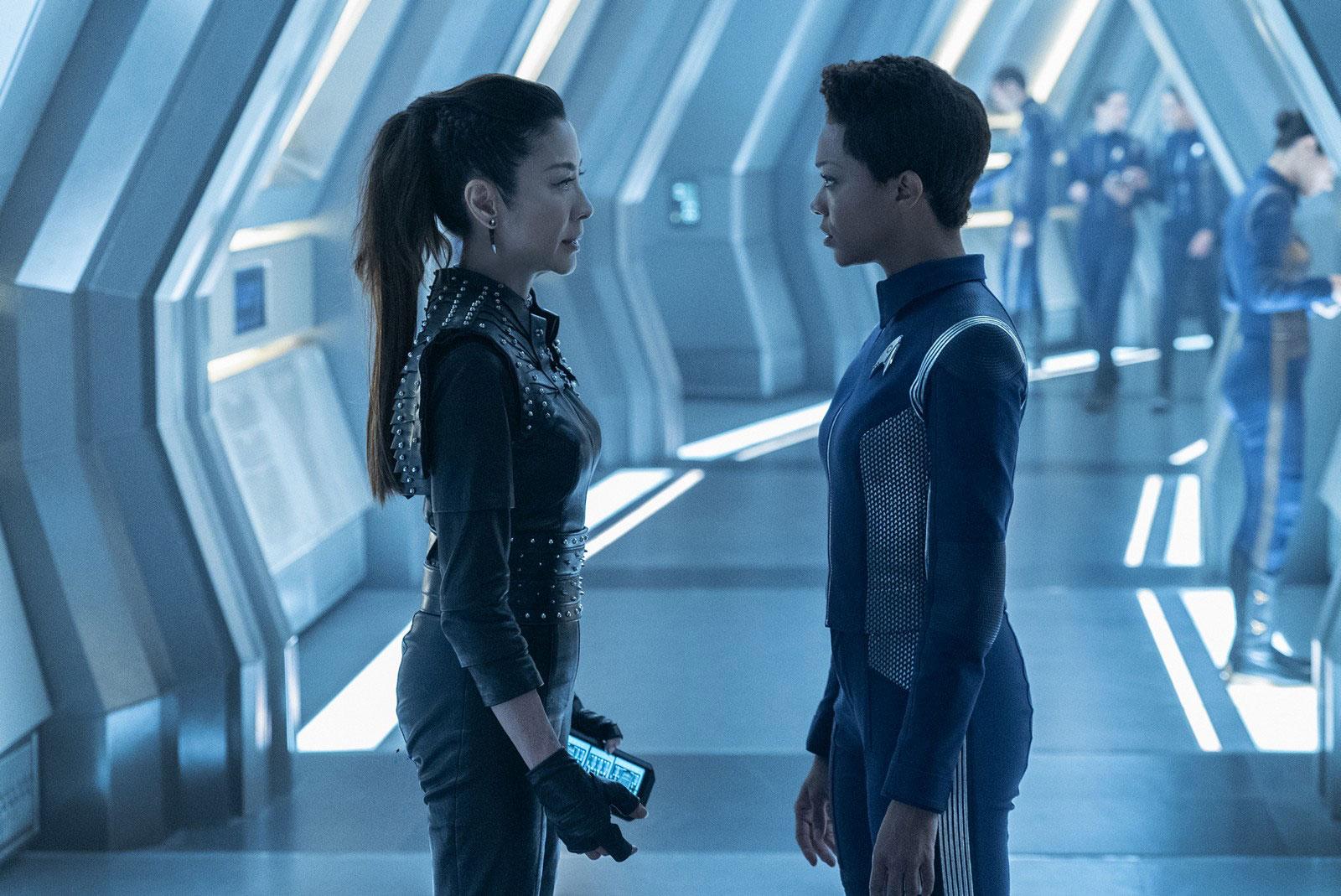 Michelle Yeoh as Philippa Georgiou and Sonequa Martin-Green as Michael Burnham