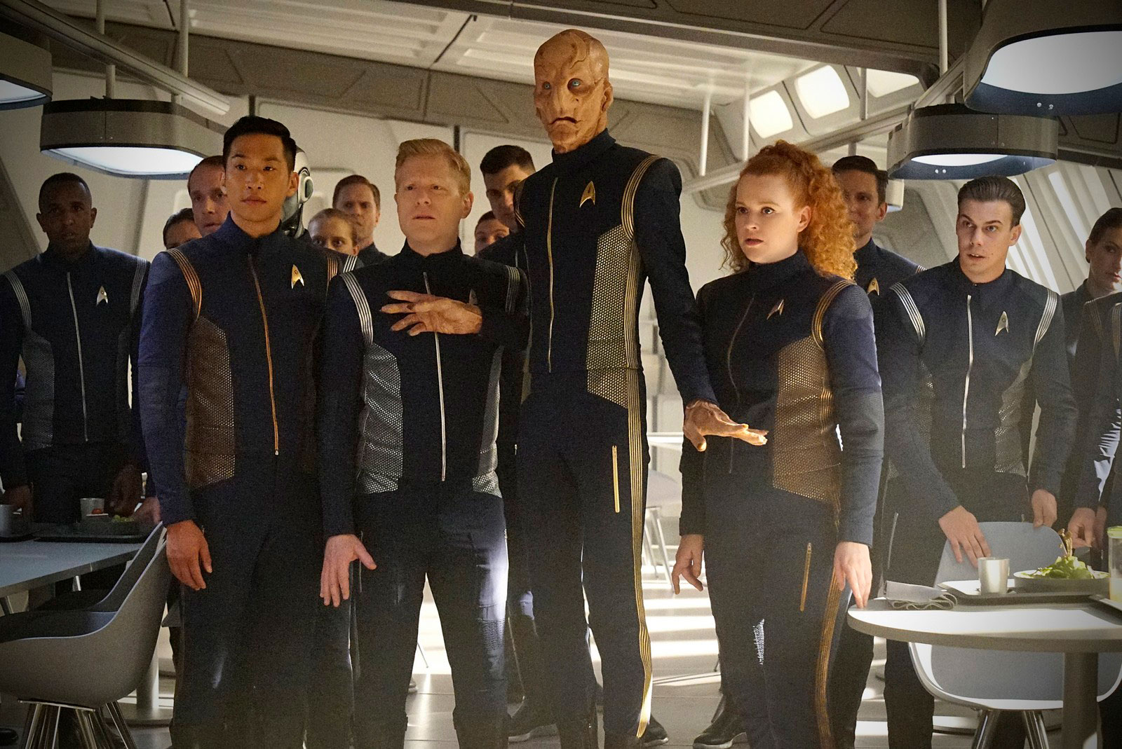 Patrick Kwok-Choon as Gen Rhys, Anthony Rapp as Paul Stamets, Doug Jones as Saru and Mary Wiseman as Sylvia Tilly