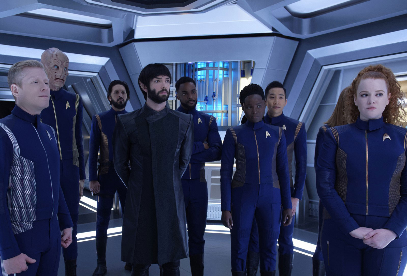 Anthony Rapp as Paul Stamets, Doug Jones as Saru, Shazad Latif as Ash Tyler, Ethan Peck as Spock, Ronnie Rowe as R.A. Bryce, Oyin Oladejo as Joann Owosekun, Patrick Kwok-Choon as Gen Rhys and Mary Wiseman as Sylvia Tilly