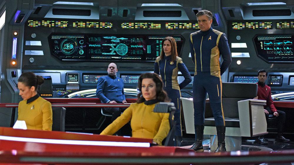 The bridge of the USS Enterprise