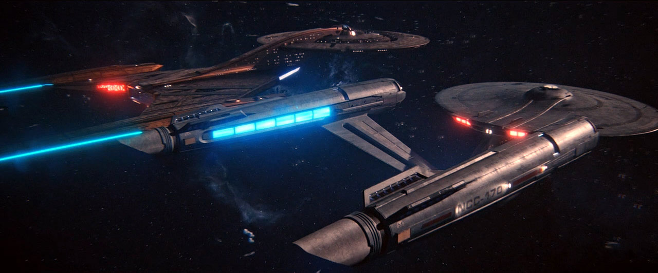 The USS Discovery alongside the USS Enterprise